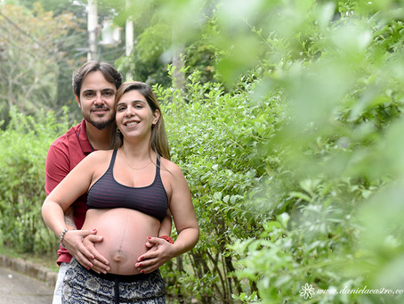 Ensaio de Gestante: Fernanda + Abilio = Helena