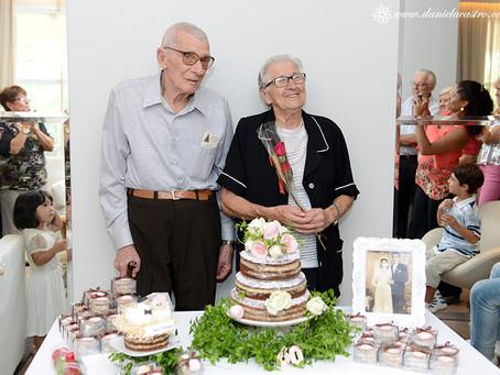 Festa de Bodas de Diamante: Cecília & Sebastião