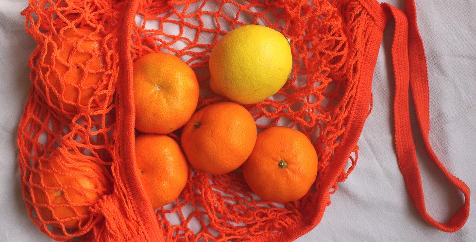 Orange Cotton Bag