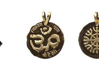Medalha do ÔM bronzeada - pequena