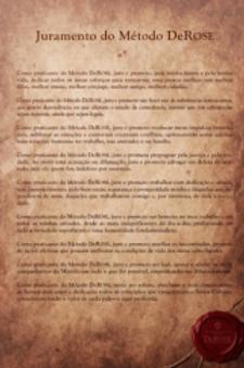 Pôster do Juramento do Método DeRose