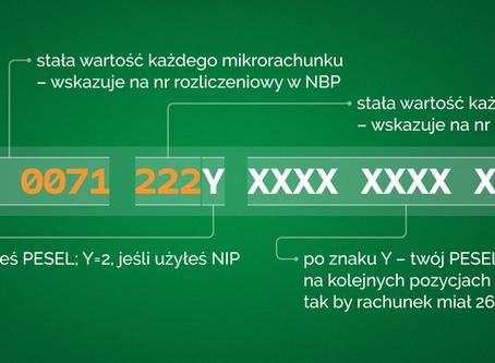 Indywidualny mikrorachunek podatkowy od 1.1.2020 roku