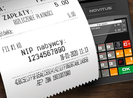 Brak możliwości wystawienia faktury do paragonu z NIP do wartości 450 zł lub 100 eur