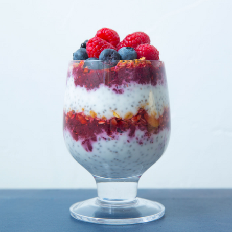 Lemon-Berry Chia Pudding Parfait