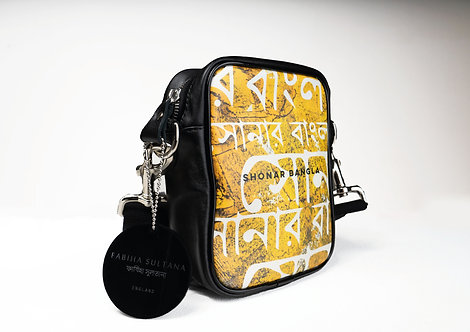 SHONAR BANGLA SIGNATURE PRINTED MESSENGER BAG