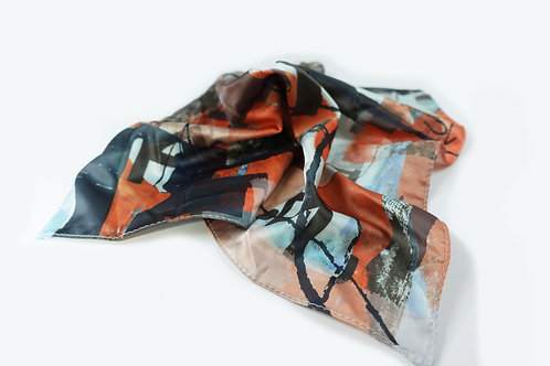 ARTISTIC ABSTRACTION SILK PRINTED POCKET SQUARE