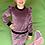 Thumbnail: Veliūrinis kostiumėlis su sparneliais slyvinė