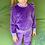 Thumbnail: Veliūrinis kostiumėlis su sparneliais violetinė