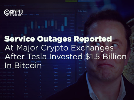 Report: Service Outages Reported At Major Crypto Exchanges After Tesla Invested $1.5 Billion In Bitc