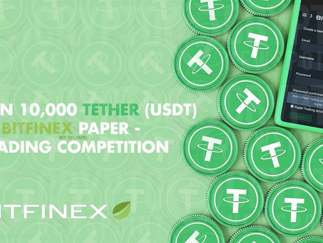 Bitfinex Puts 10,000 Tether (USDt) Up For Grabs in Paper Trading Competition