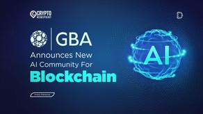 Government Blockchain Association (GBA) Announces New AI Community For Blockchain