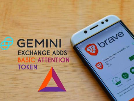 Gemini Exchange Adding Support For Brave Browser's BAT Token