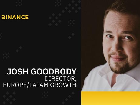 Binance Hires Huobi's Josh Goodbody As Its New Director European And Latin American Business Lead
