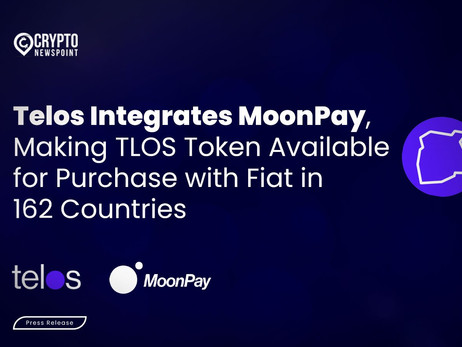 Telos Integrates MoonPay, Making TLOS Token Available for Purchase with Fiat in 162 Countries