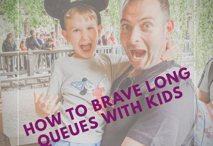 How to brave long queues with kids