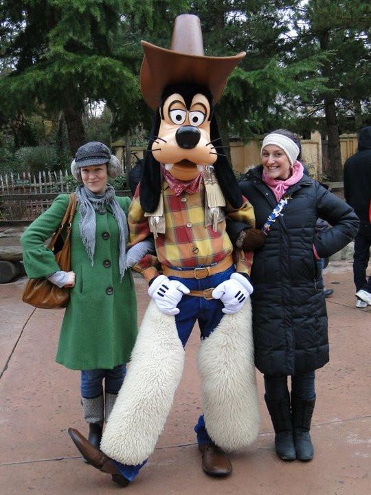 Me and Leah huggin cowboy Goofy