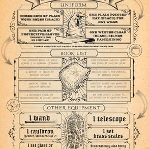Poster: Harry Potter Hogwarts School List