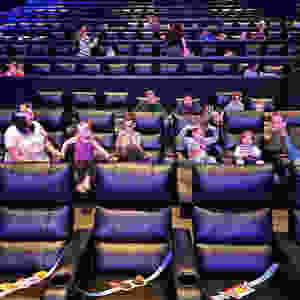 Us sitting inside the cinema auditorium