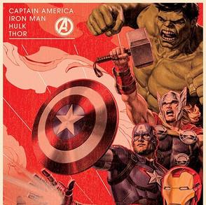 Poster: Avengers Vintage Golden Age
