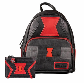 Loungefly Marvel Black Widow Mini Backpack and Cardholder Set