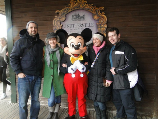 The first time we dragged our husbands to Disneyland Paris