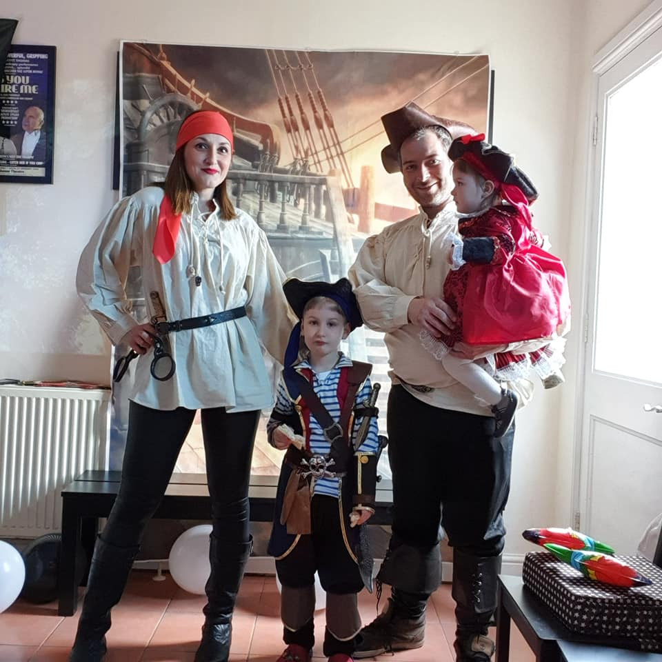 Me, my husband, my son and my daughter as pirates