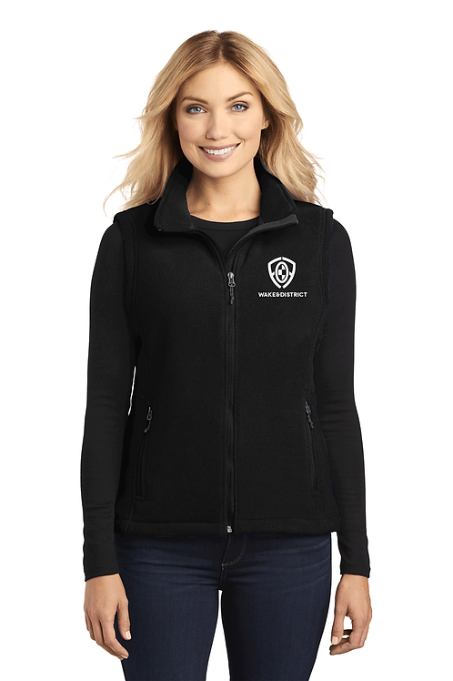 Ladies Embroidered Fleece Vest