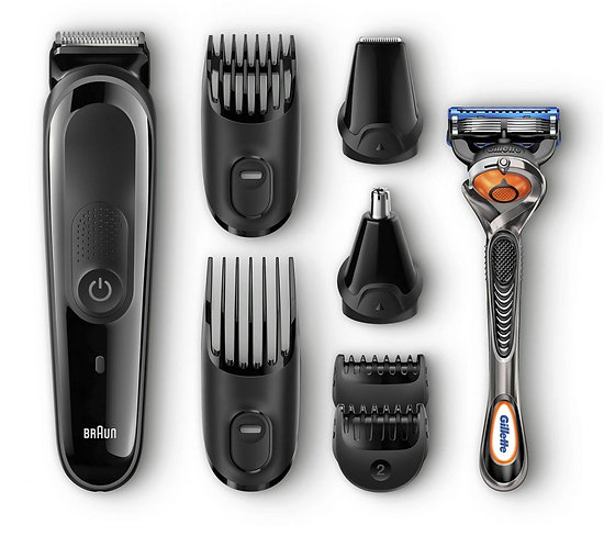 Braun 9-in-1 All-in-one Trimmer MGK3060, Beard Trimmer and Hair Clipper,