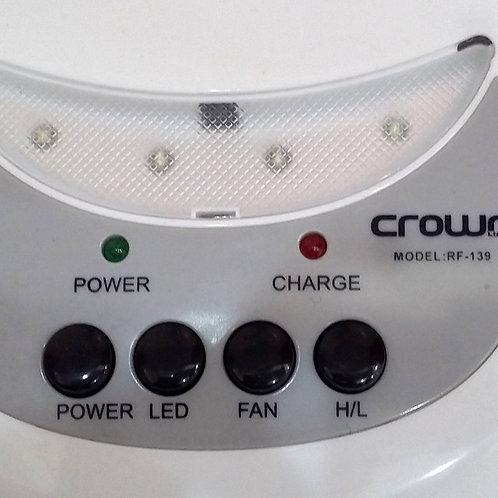 Crownline Rechargeable Fan [rf-139], White