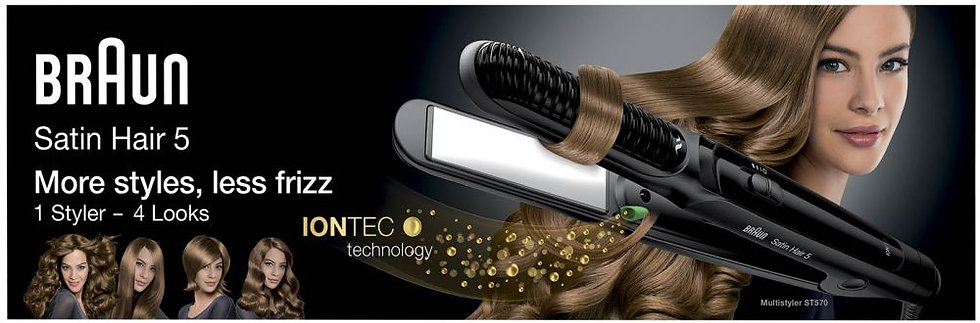 Braun Satin Hair 5 ST570 Hair Straightener & Multistyler With IONTEC Technology
