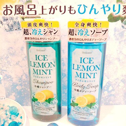 Beauwellの『冷感シャンプー&ボディーソープ アイスレモンミント』