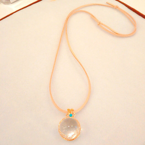 アイリスクォ―ツ(虹入り水晶)のペンダント