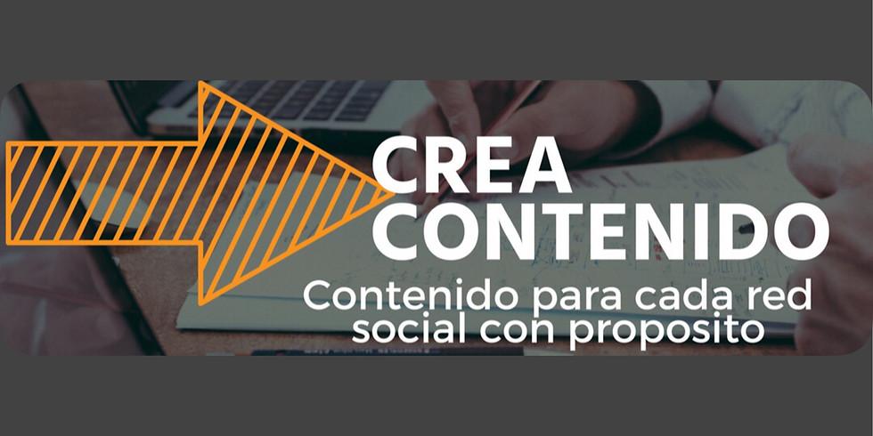 Webinar Gratuito CREA CONTENIDO