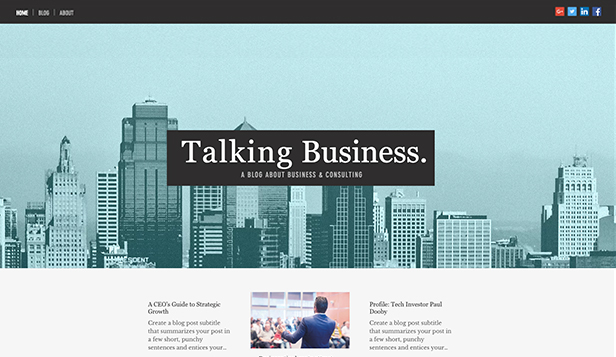 Business e Marketing template – Blog per business