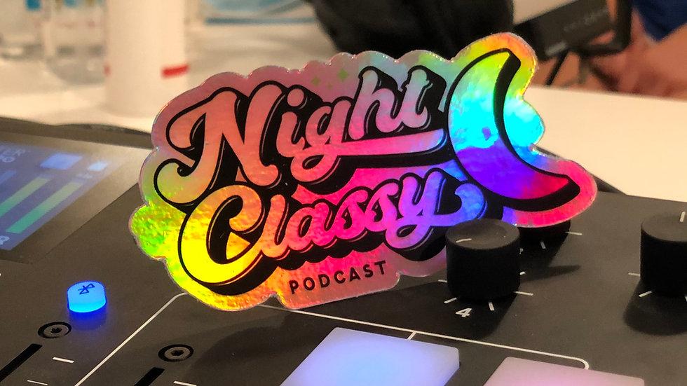 Night Classy Holographic Sticker