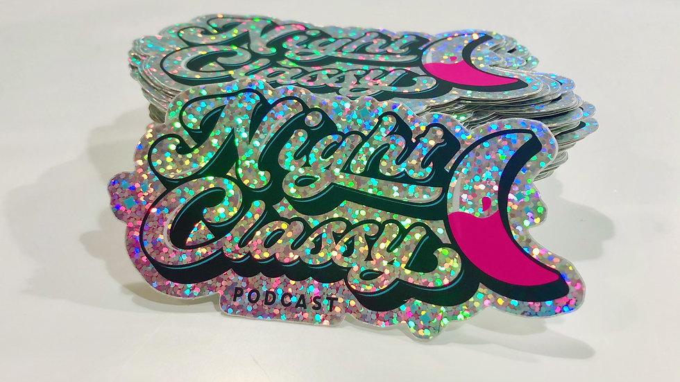 Night Classy Glitter Sticker
