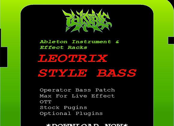 PLAUSIBLE ABLETON INSTRUMENT & EFFECT RACKS - (LEOTRIX STYLE BASS)