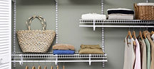 Get help instaling custom metal or wood shelving.