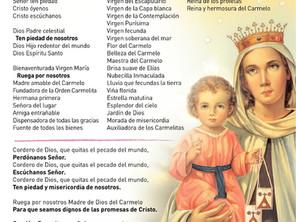 Letanías de la Virgen del Carmen