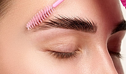 Eyebrows Care. Closeup Of Woman Beautifu