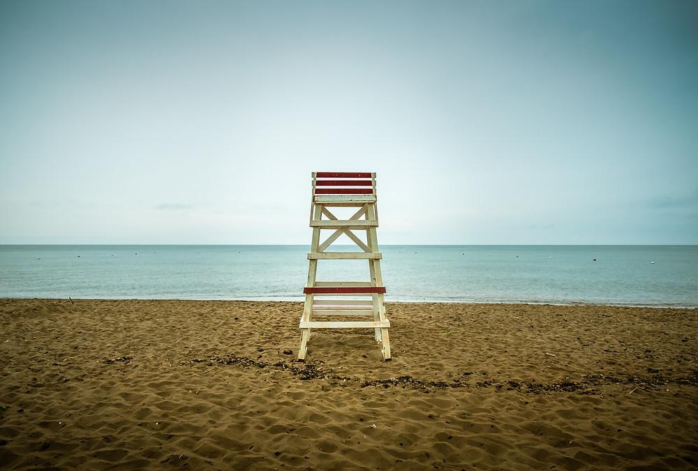 Empty beach on the East Coast of Canada