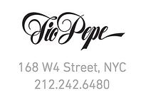Tio Pepe 168 West 4 street, NYC, Tel. 212-242-6480