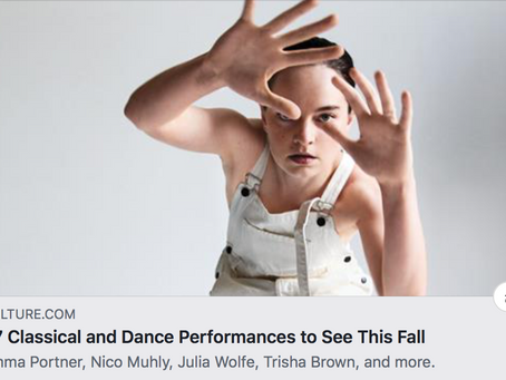 Vulture.com 37 Classical and Dance Performances to see this Fall!