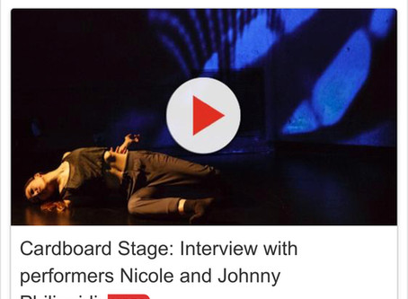 Cardboard Stage: Interview with Artistic Director Nicole & Musician Johnny Philippidis