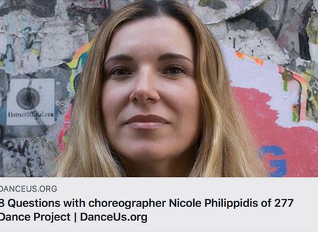 DANCEUS.ORG Interview with Choreographer Nicole Philippidis