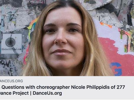 DANCEUS.ORG Interview with Choreographer Nicole Philippidis
