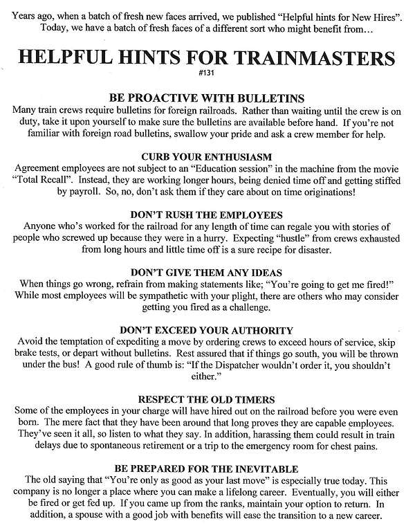 R131 Helpful hints for trainmasters.png
