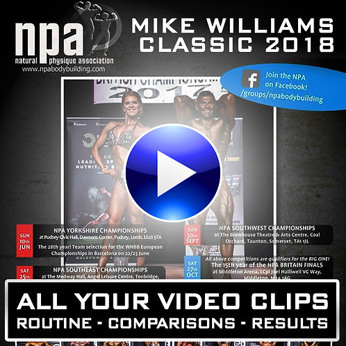 YOUR VIDEO CLIPS - NPA MIKE WILLIAMS CLASSIC 2018