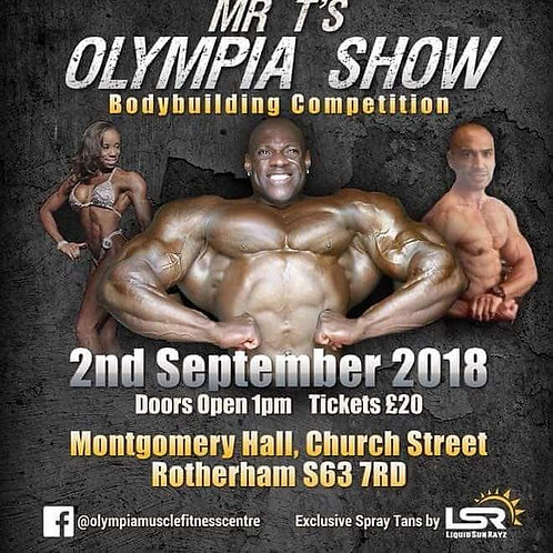 Mr T's Olympia - Full Media Package