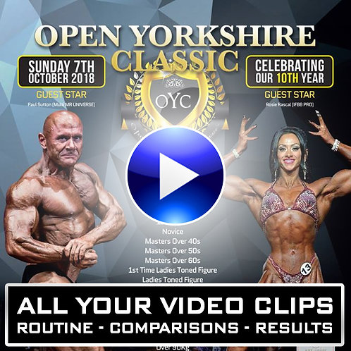 OPEN YORKSHIRE CLASSIC 2018 - YOUR VIDEO DOWNLOADS